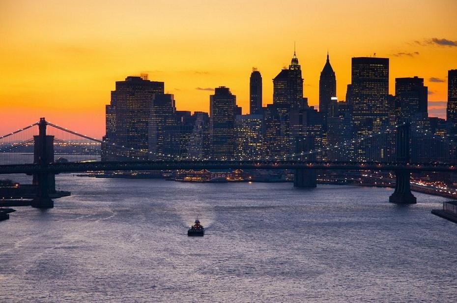 Нью-Йорк закат