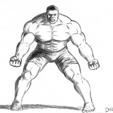 Как нарисовать Халка