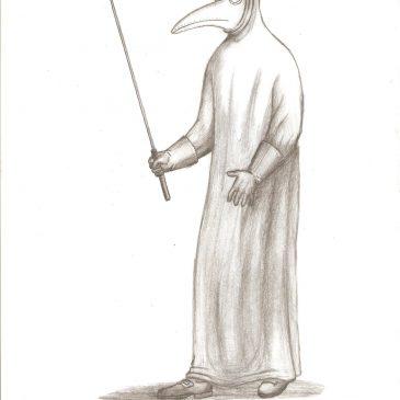 Как нарисовать чумного доктора