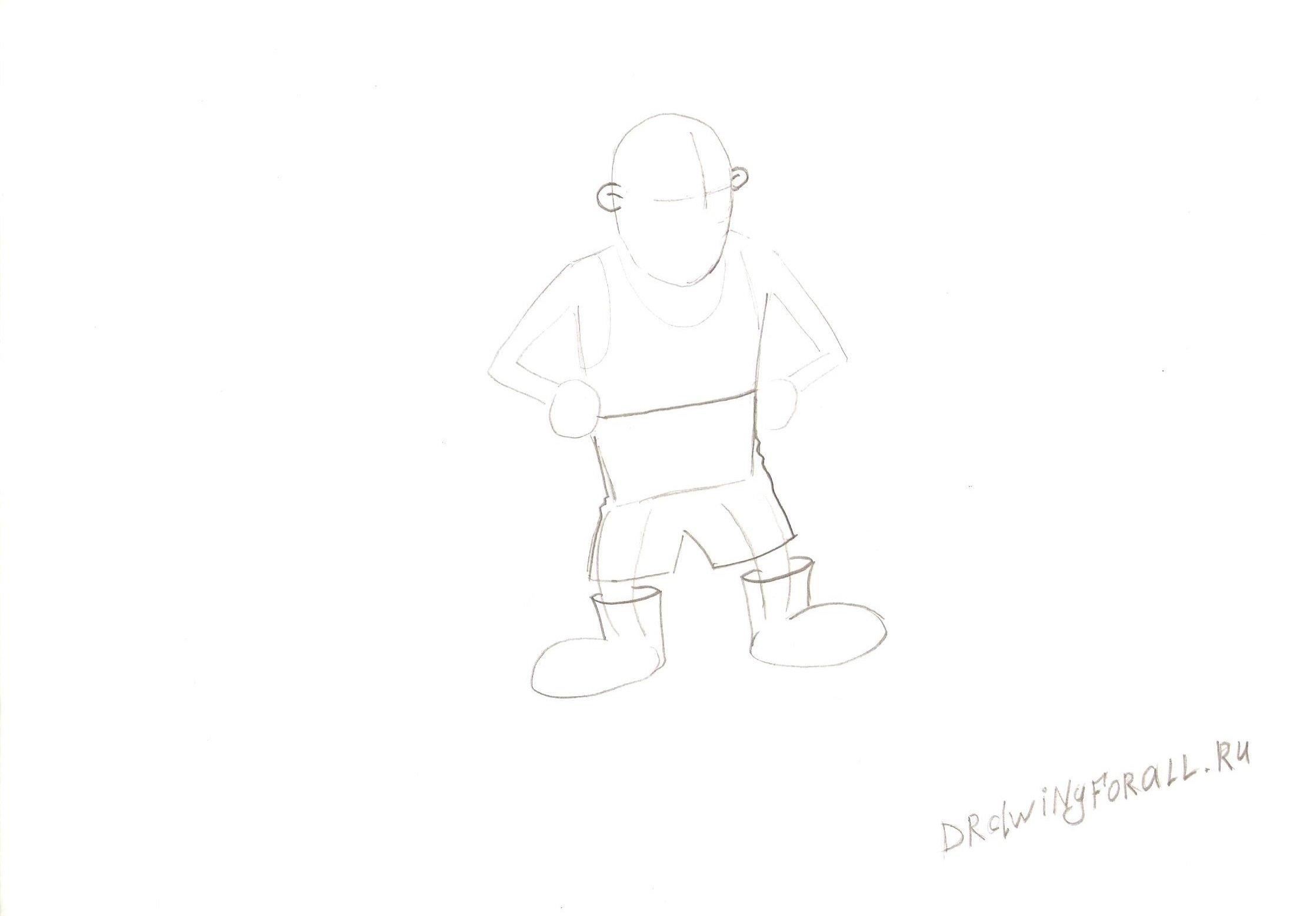 Как нарисовать человека поэтапно