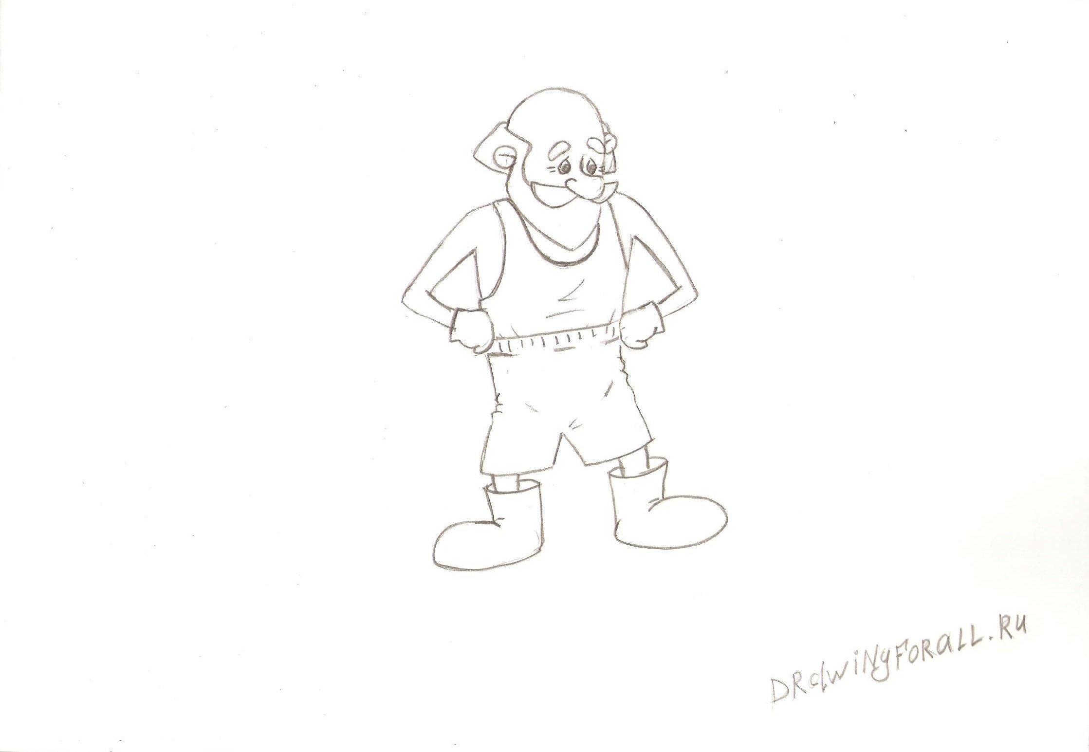 Как нарисовать деда
