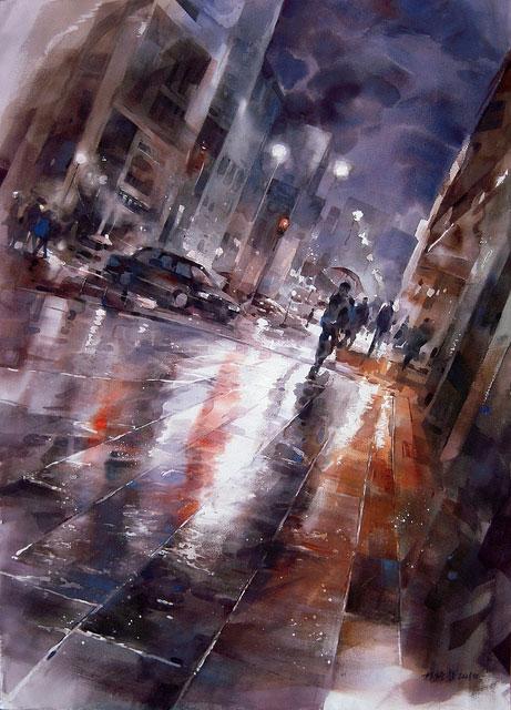Осенний дождь в городе