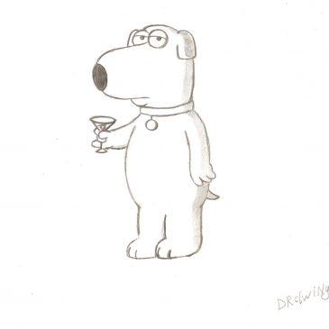 Как нарисовать Брайана Гриффина