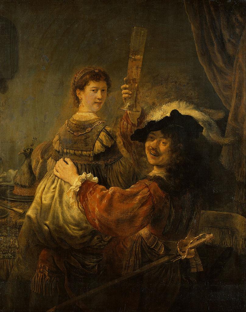 Блудный сын в таверне, Рембрандт