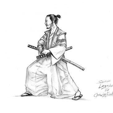 Как нарисовать самурая
