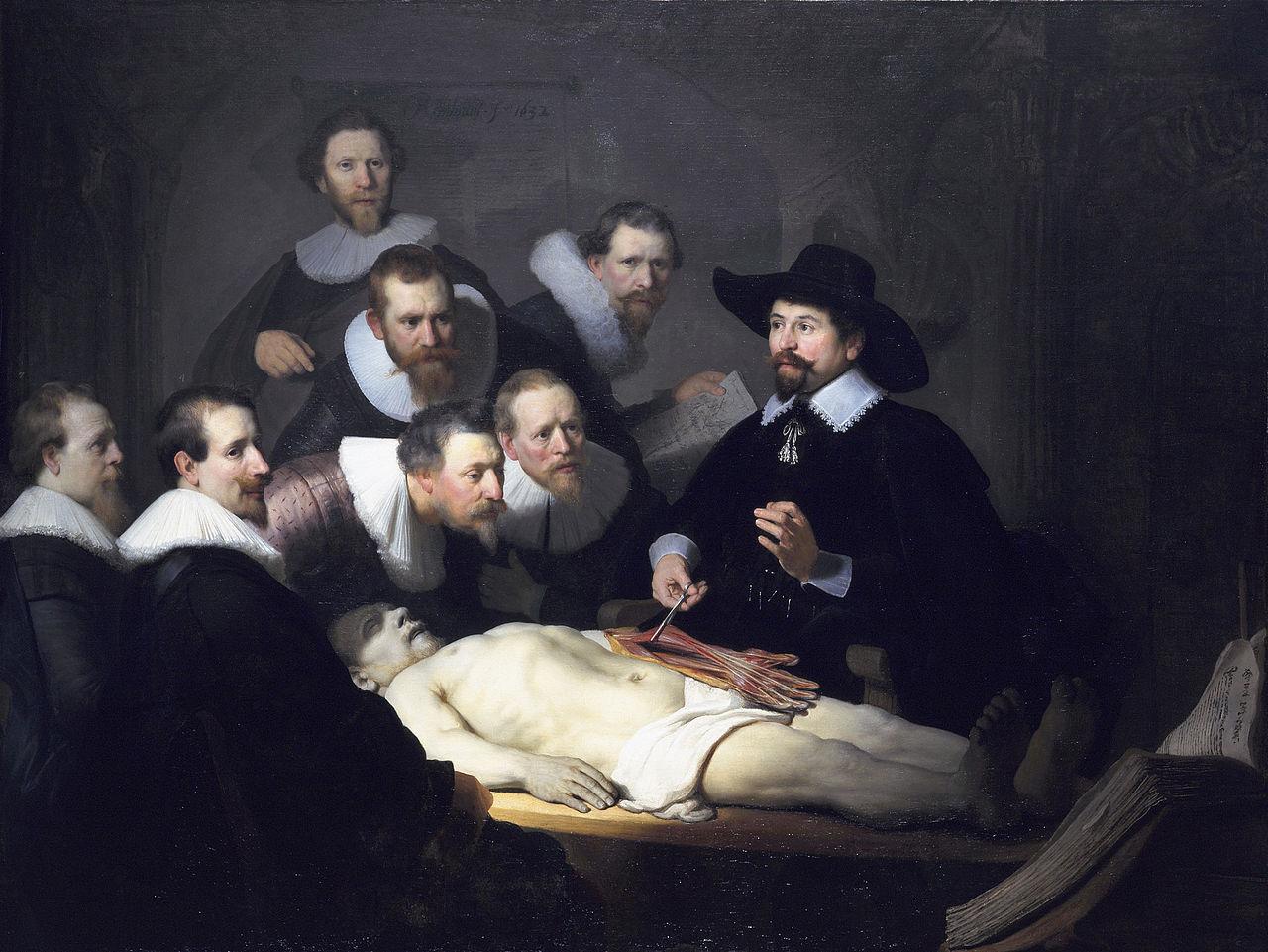 Урок анатомии у доктора Тюльпа, Рембрандт