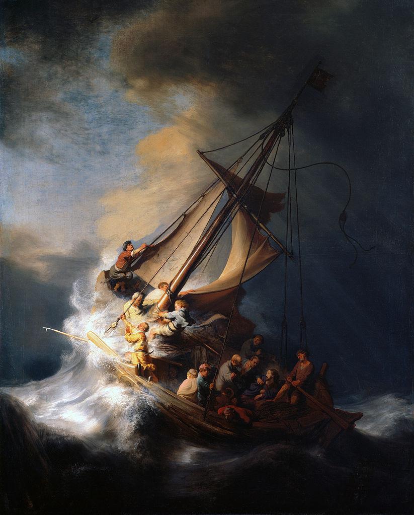 Христос во время шторма на море галилейском, Рембрандт