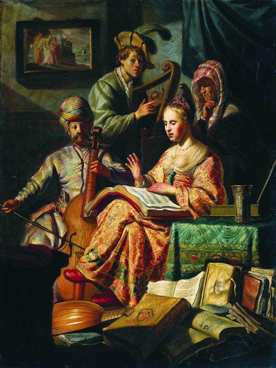 Аллегория музыки, Рембрандт