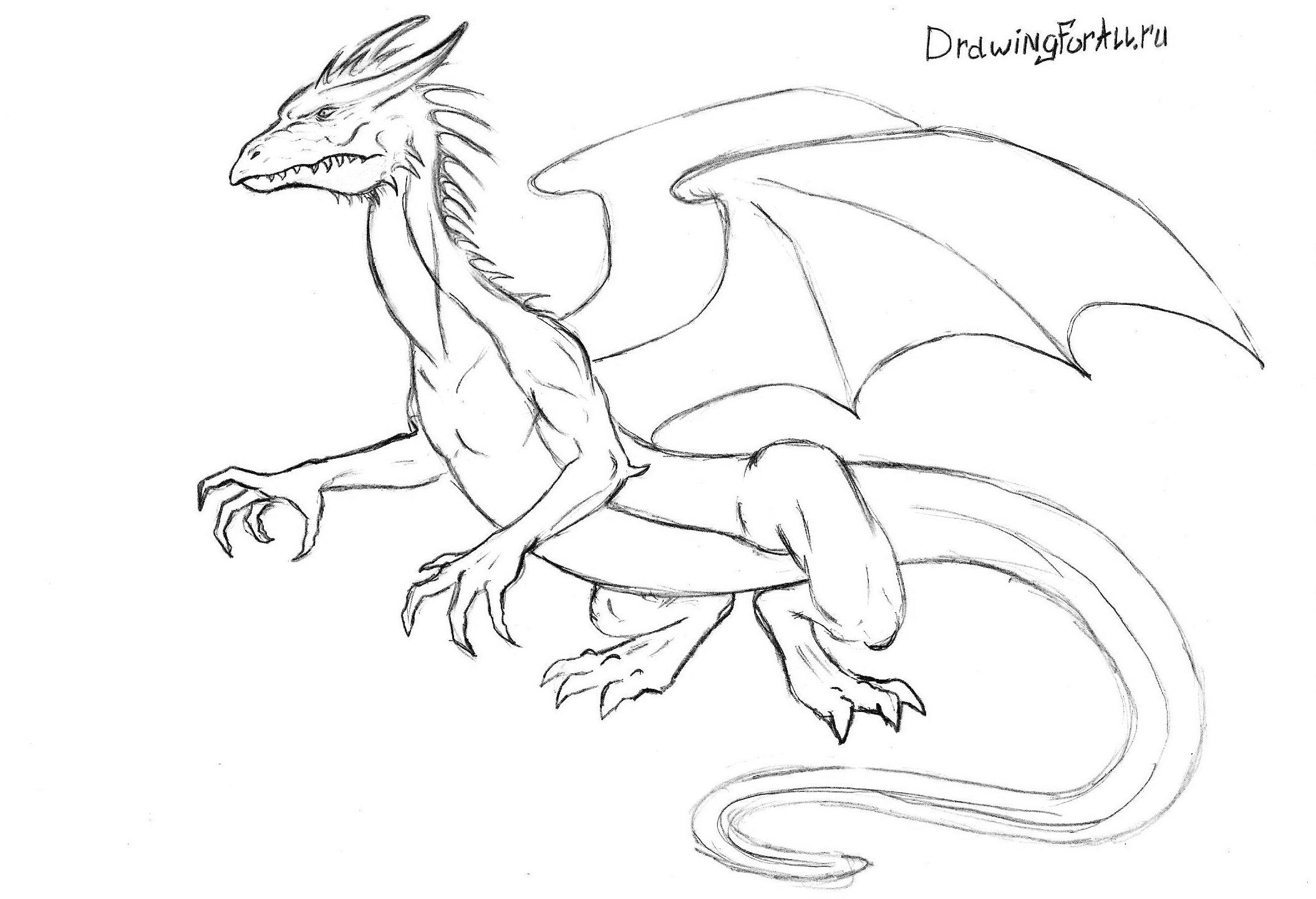 детализация туловища дракона