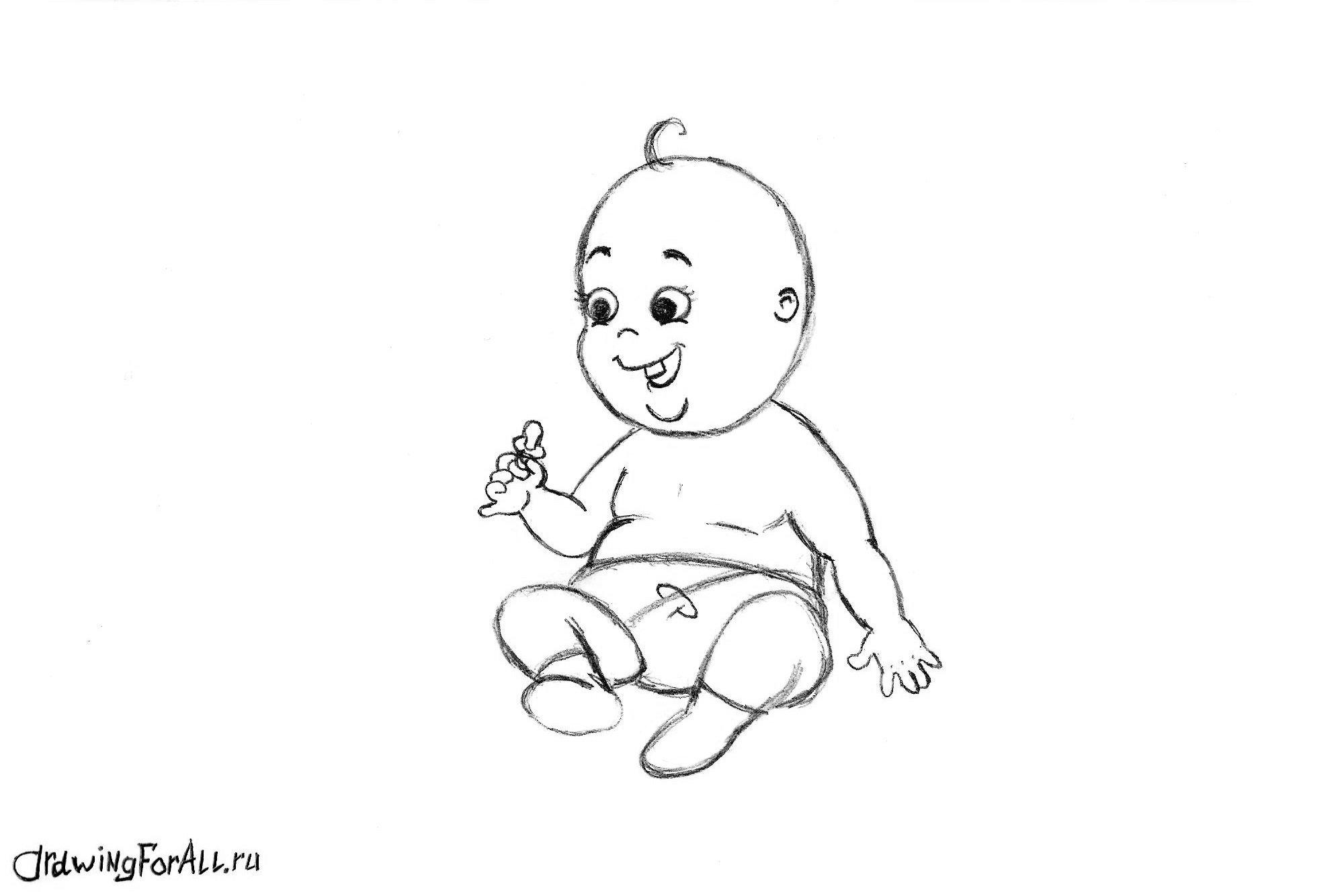 Как нарисовать ребенка маленького