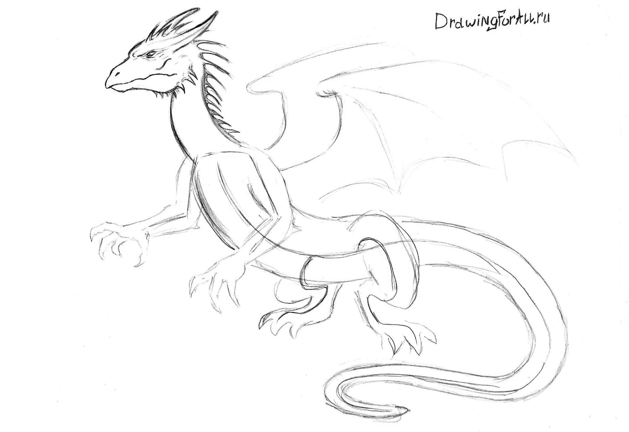 как нарисовать шипы дракона
