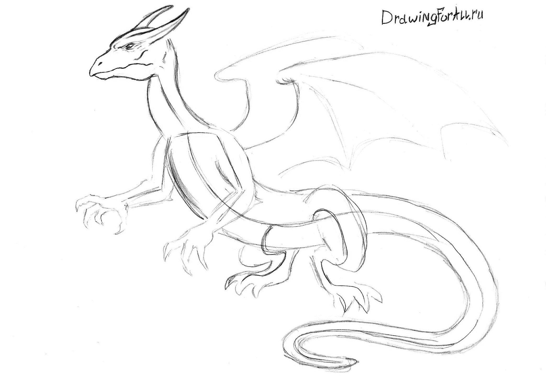 рисуем голову дракона