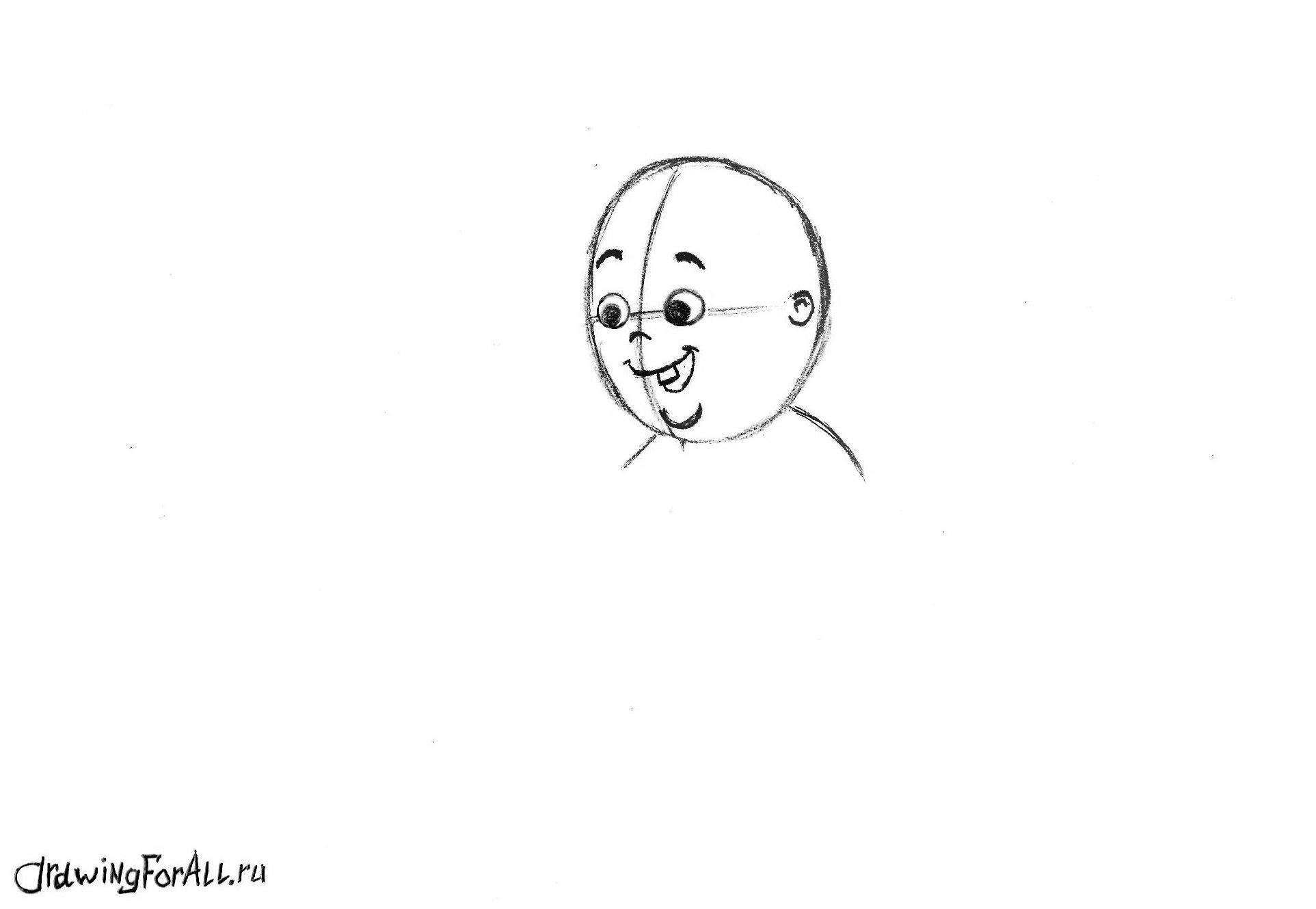 рисуем лицо ребёнка