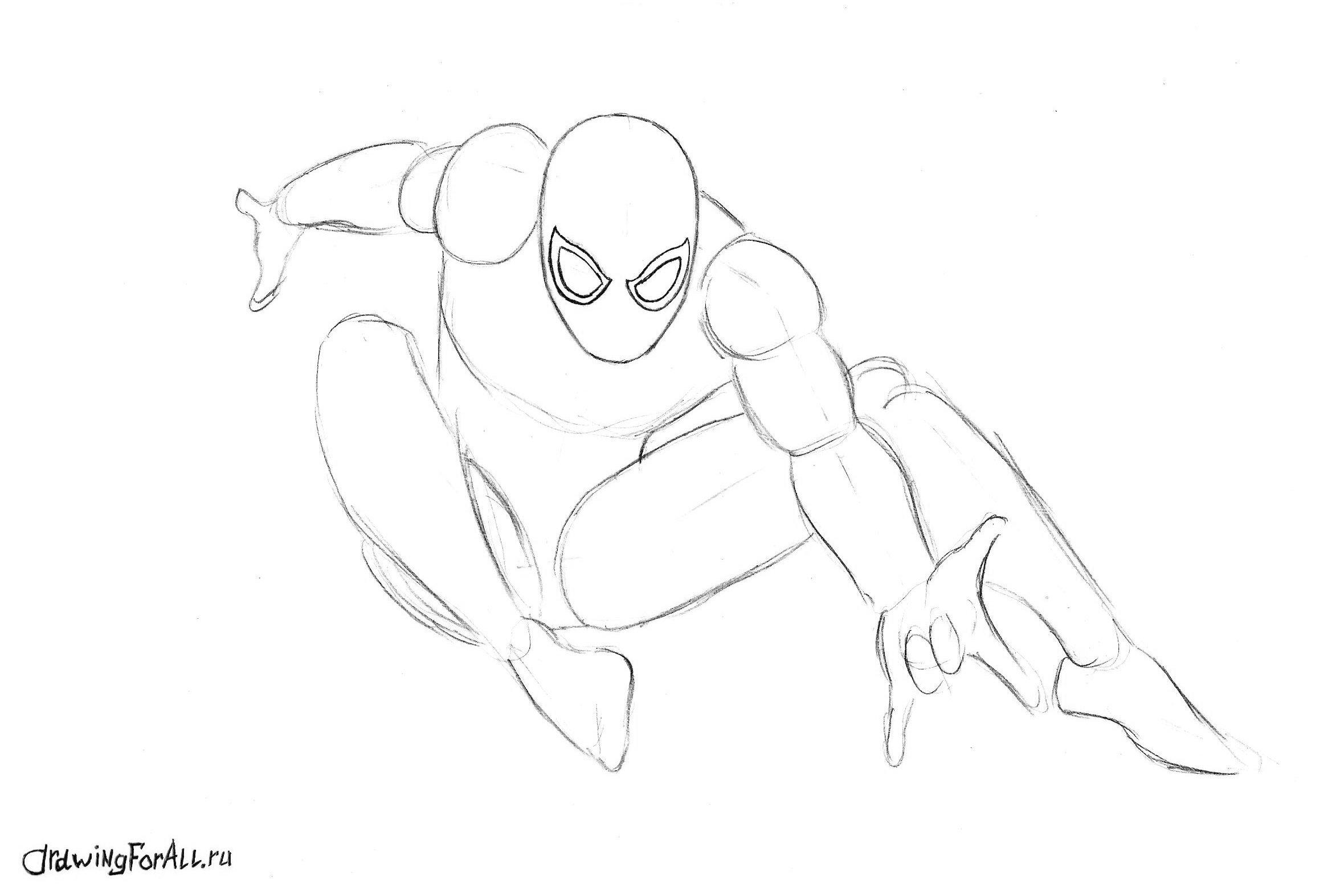 человек-паук, силуэт