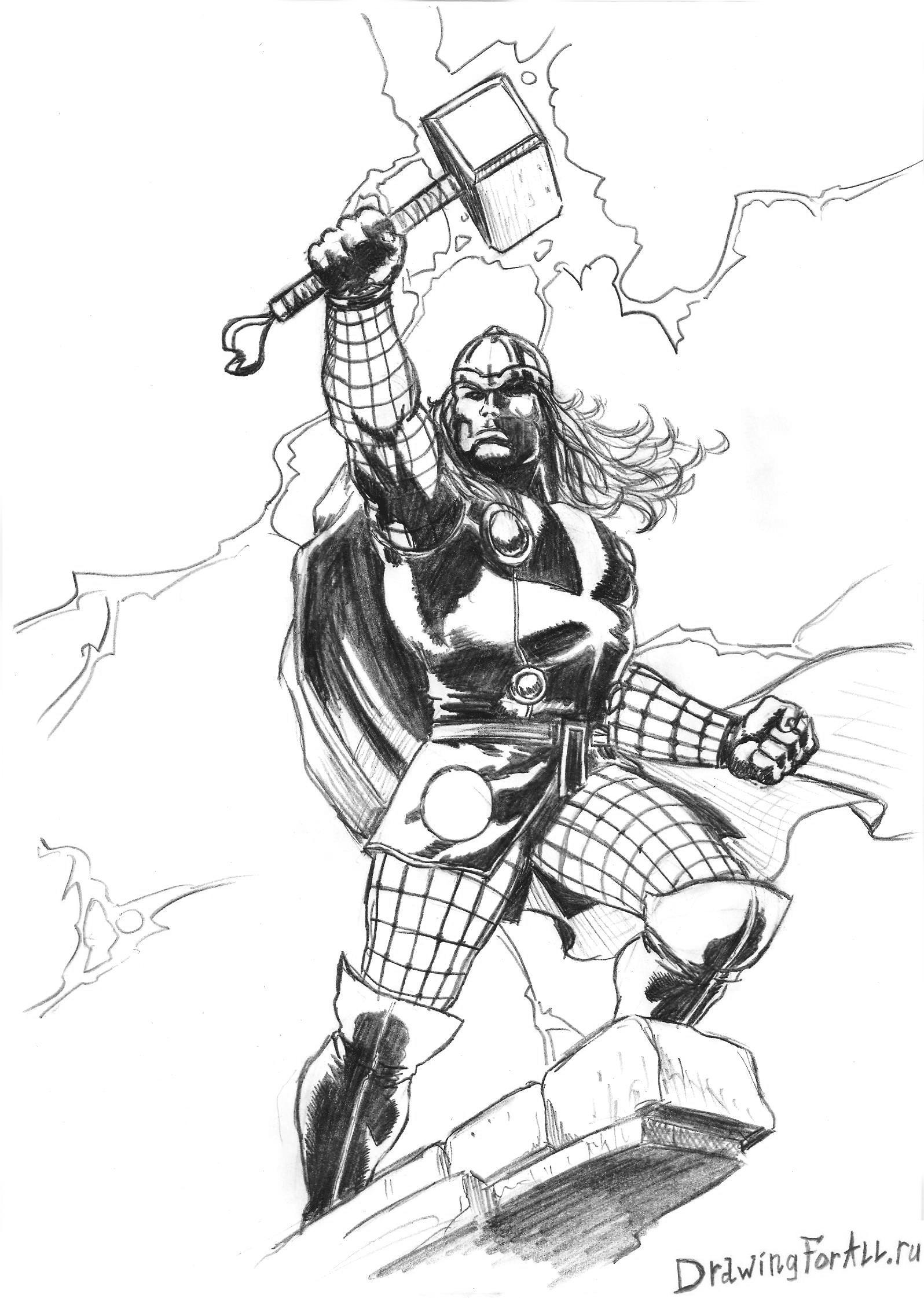 как рисовать супергероев карандашом: