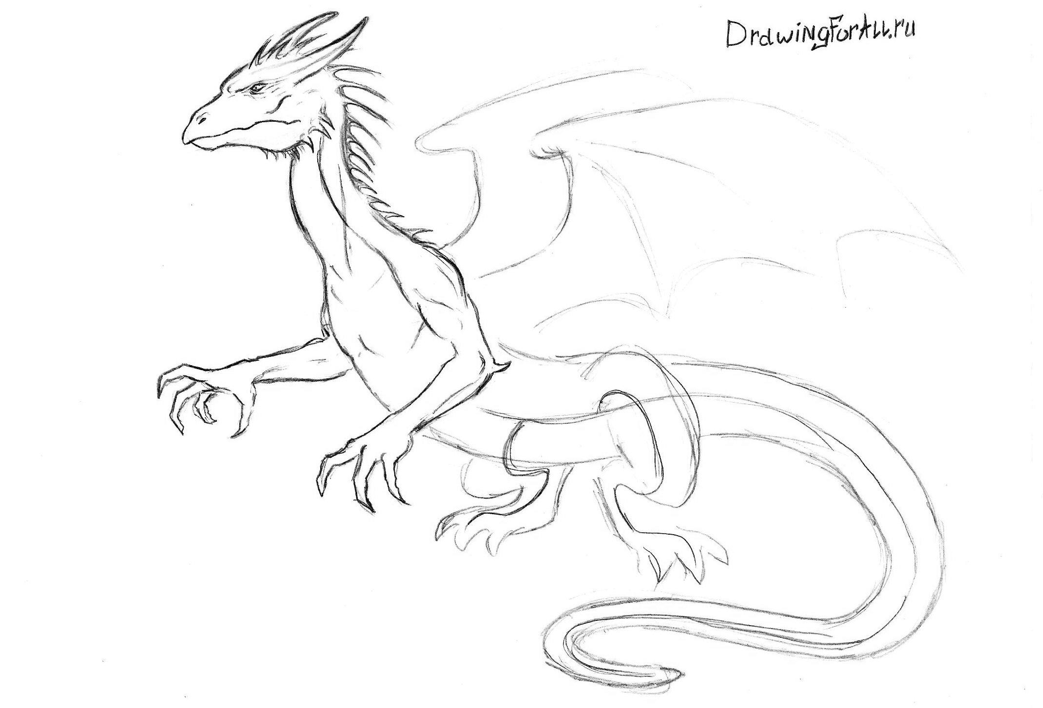 Рисуем шею дракона