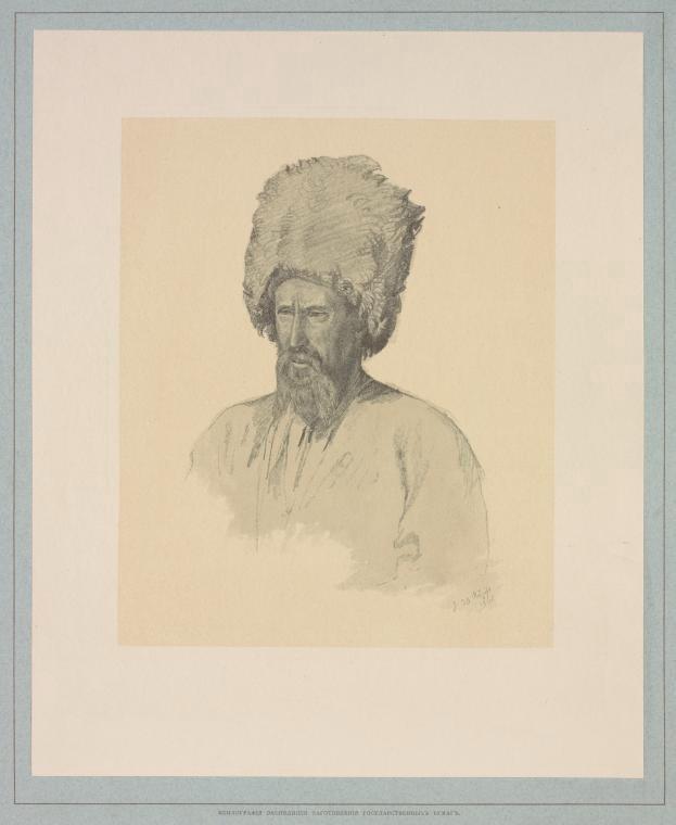 нагаец, рисунок, 19 век
