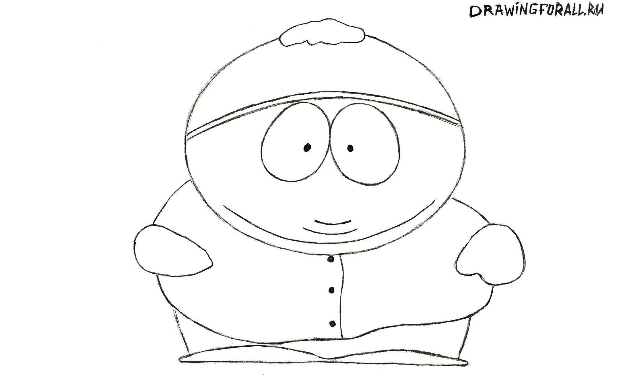 Как нарисовать Эрика Картмана