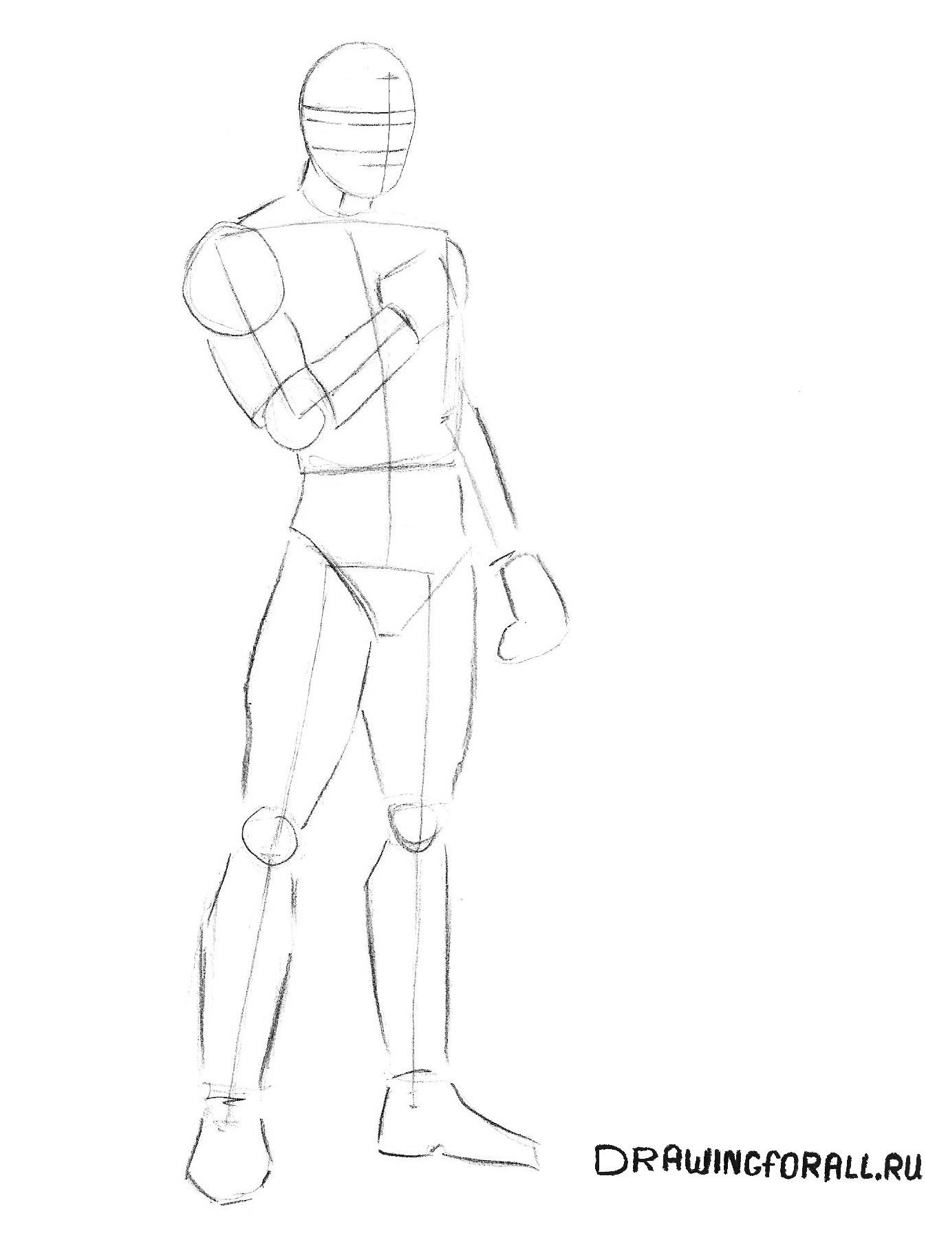 Как нарисовать персонажа комиксов марвел