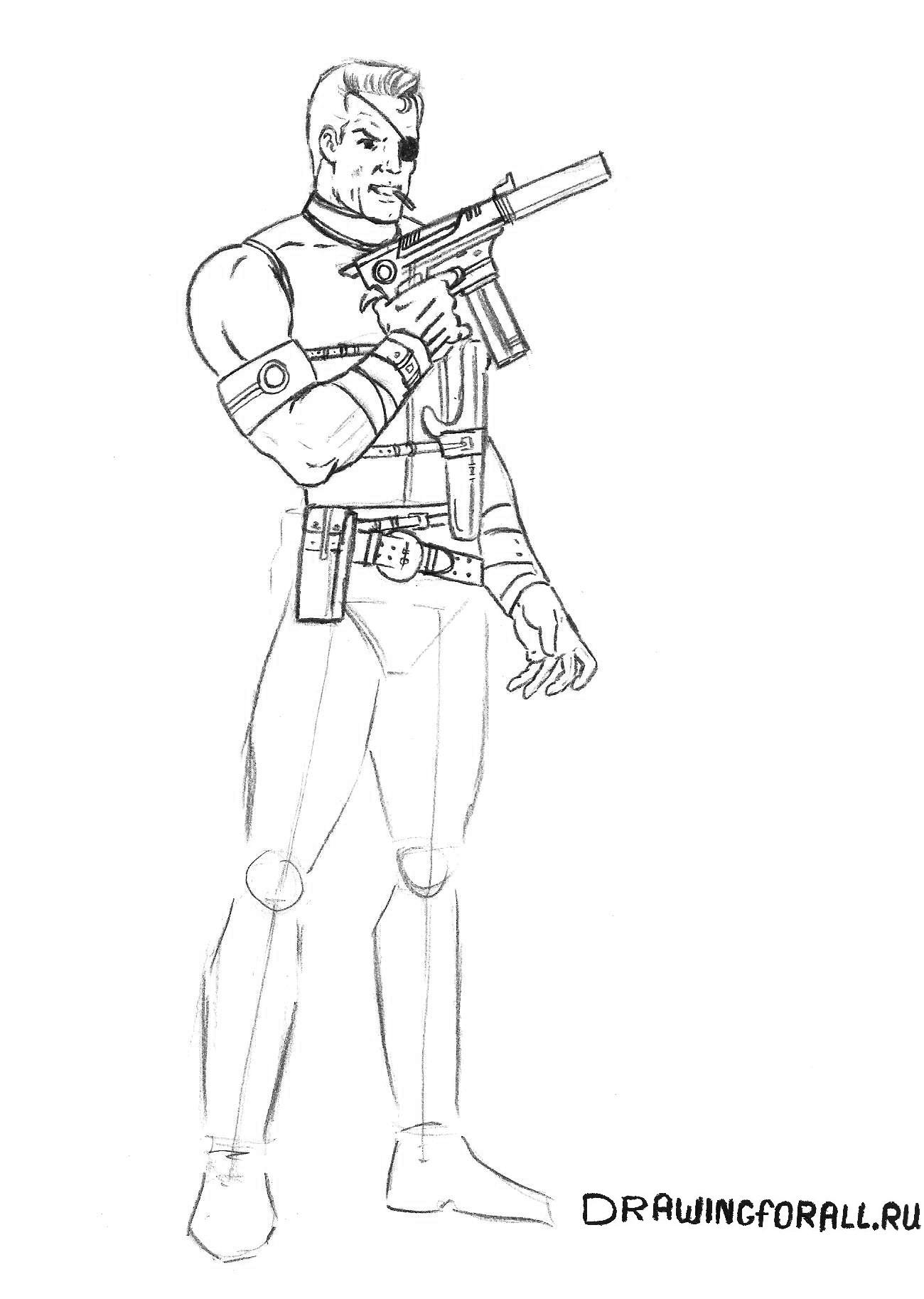 Как нарисовать спецагента