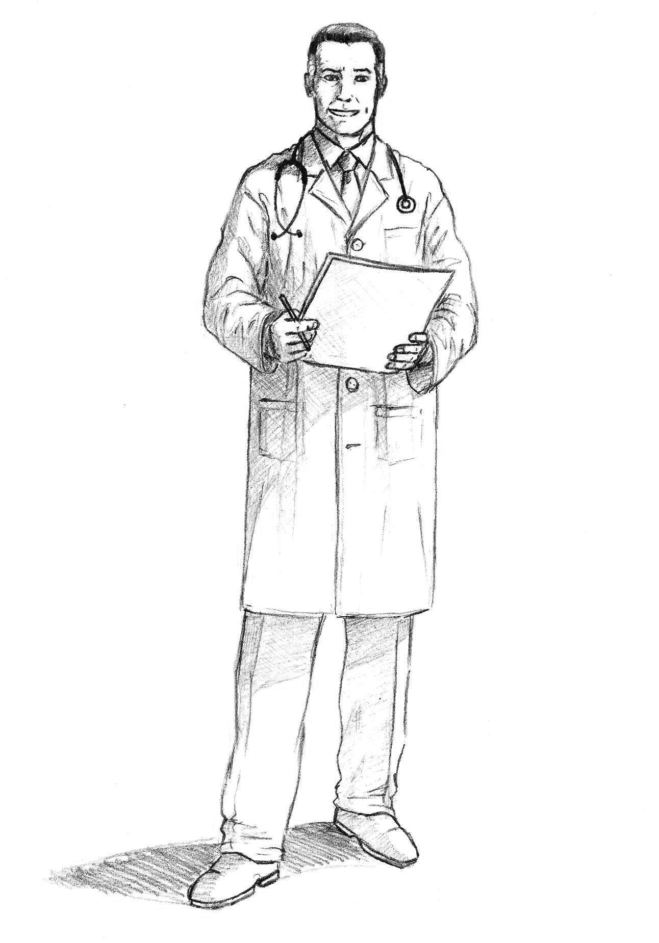 как нарисовать врача поэтапно