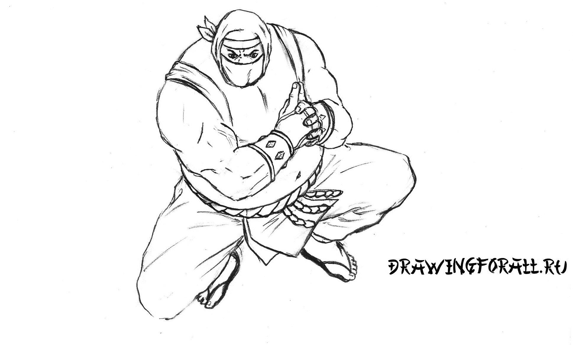 как нарисовать ниндзя сумоиста