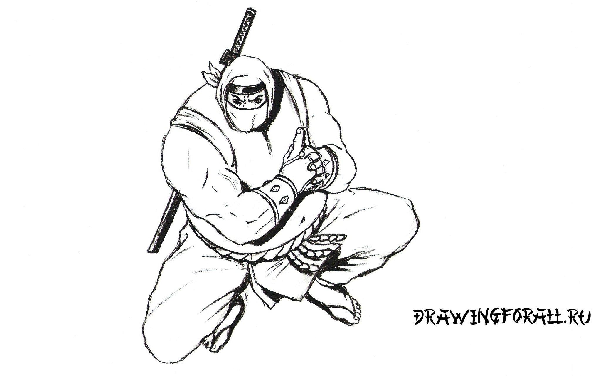 как нарисовать ниндзя