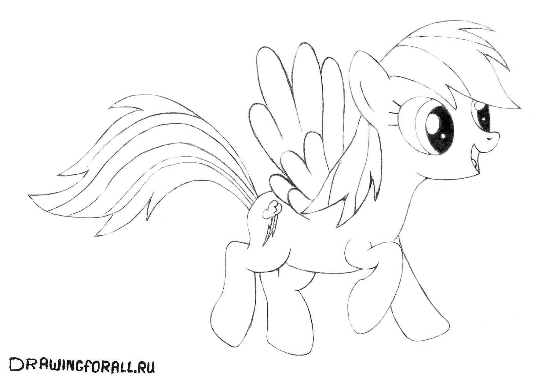 как нарисовать пони дружба