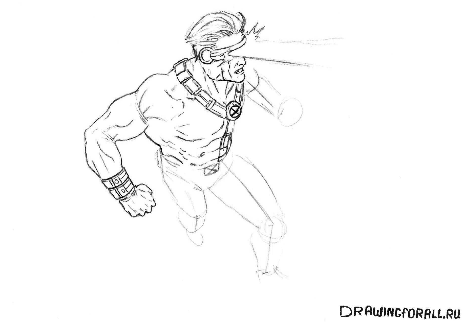 как нарисовать руку Циклопа