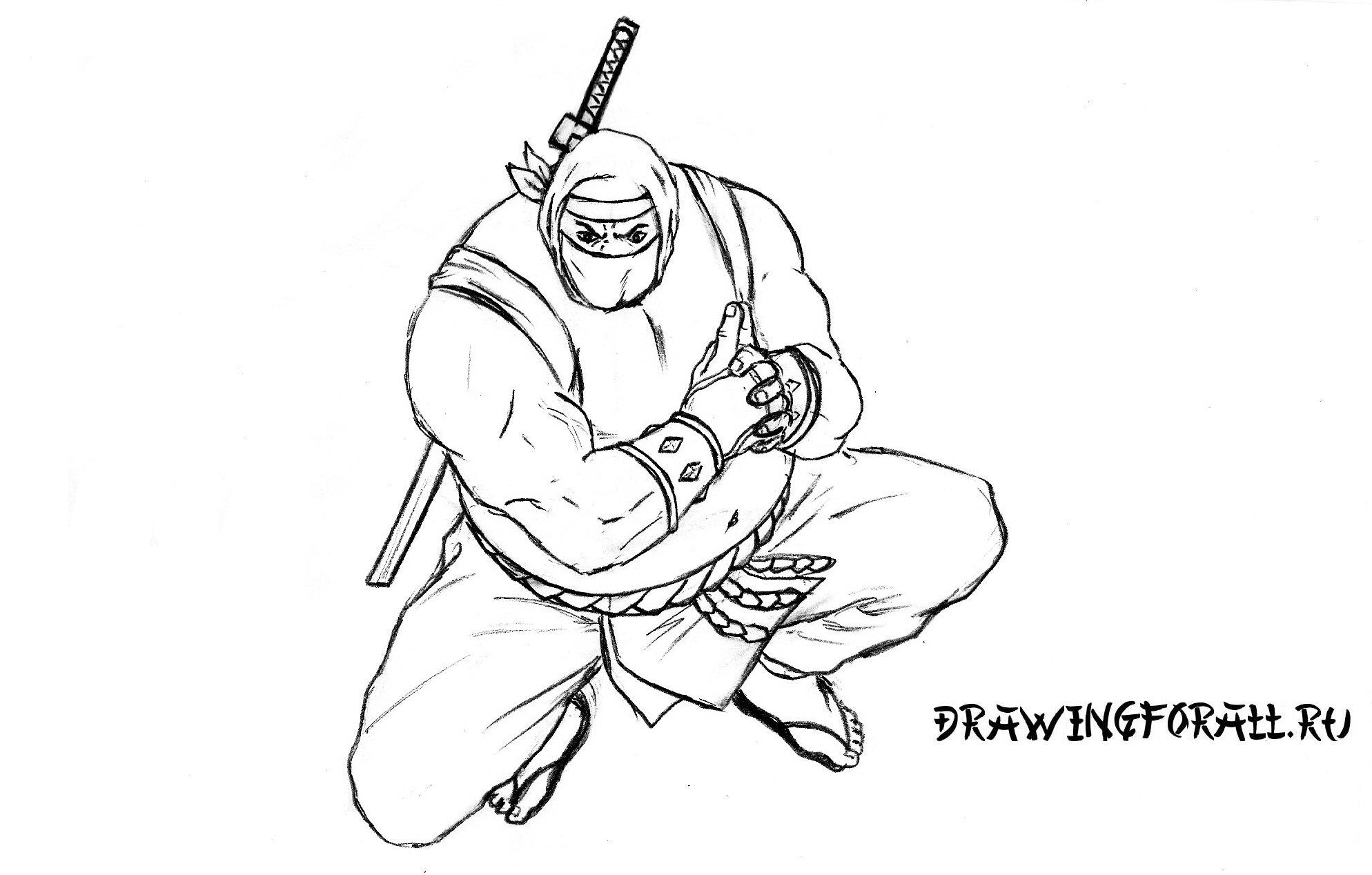 как рисовать ниндзя