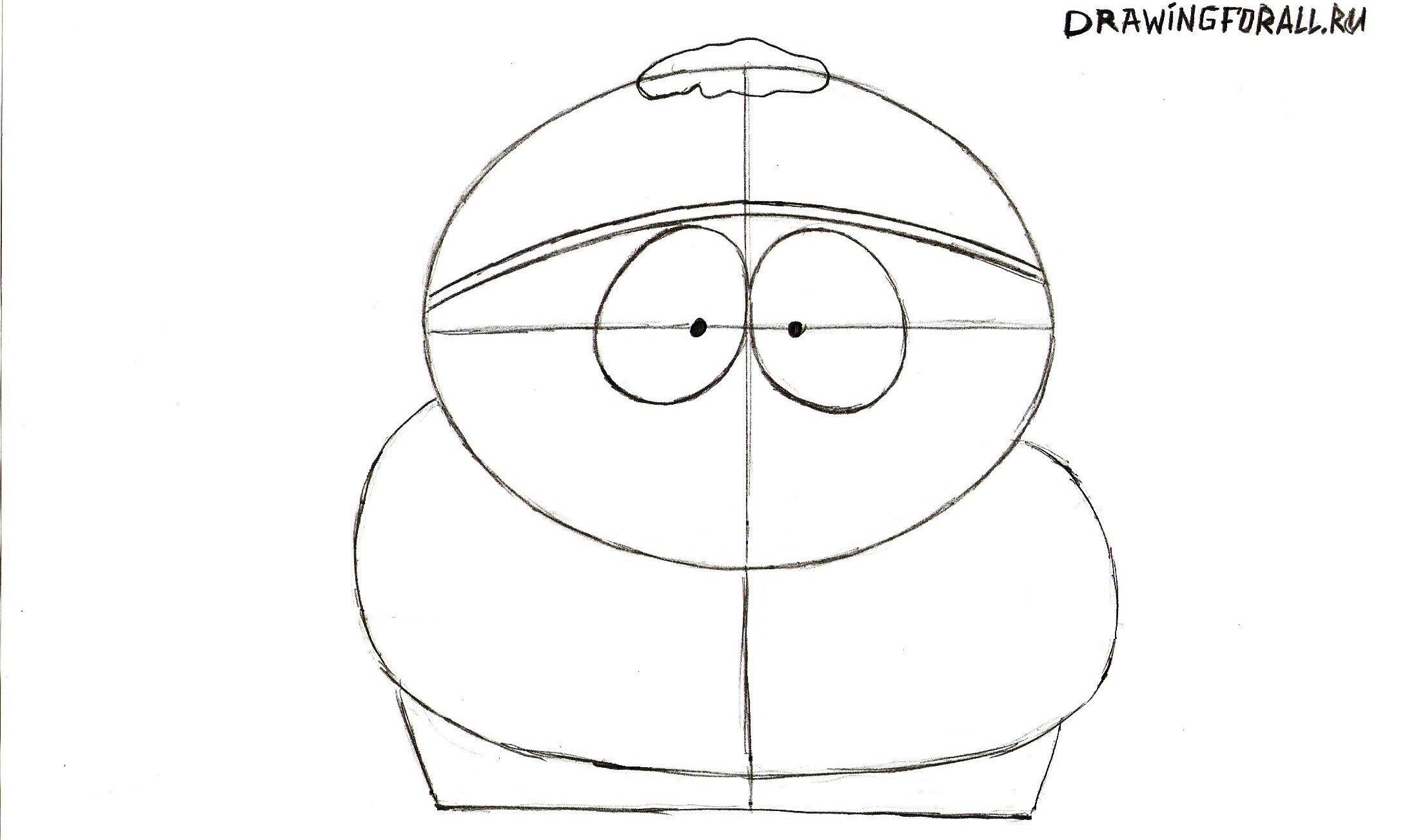 рисуем глаза Картмана