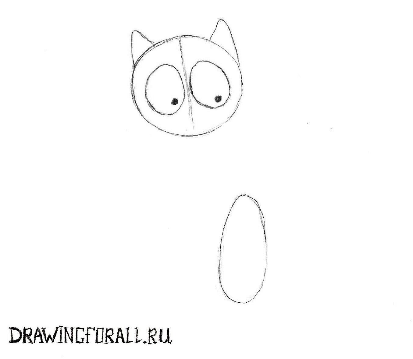 рисуем кошку карандашом