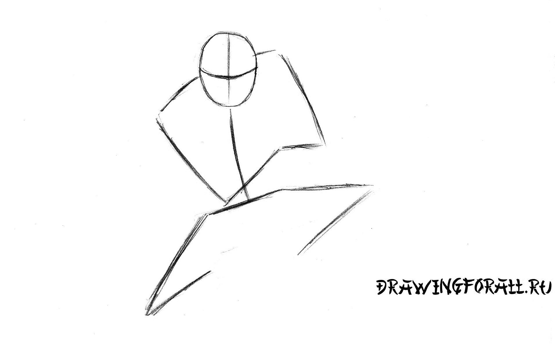 рисуем ниндзя поэтапно