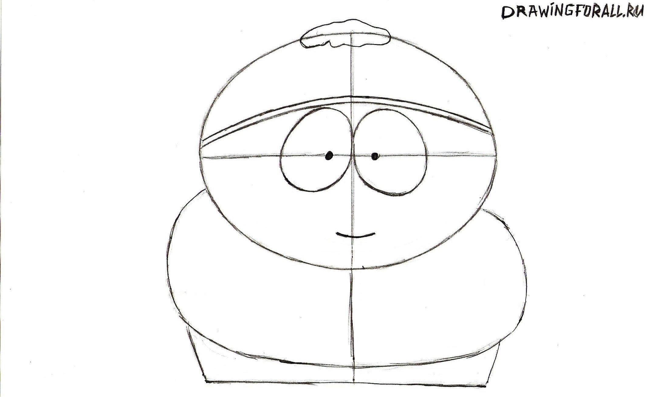 рисуем рот Картмана