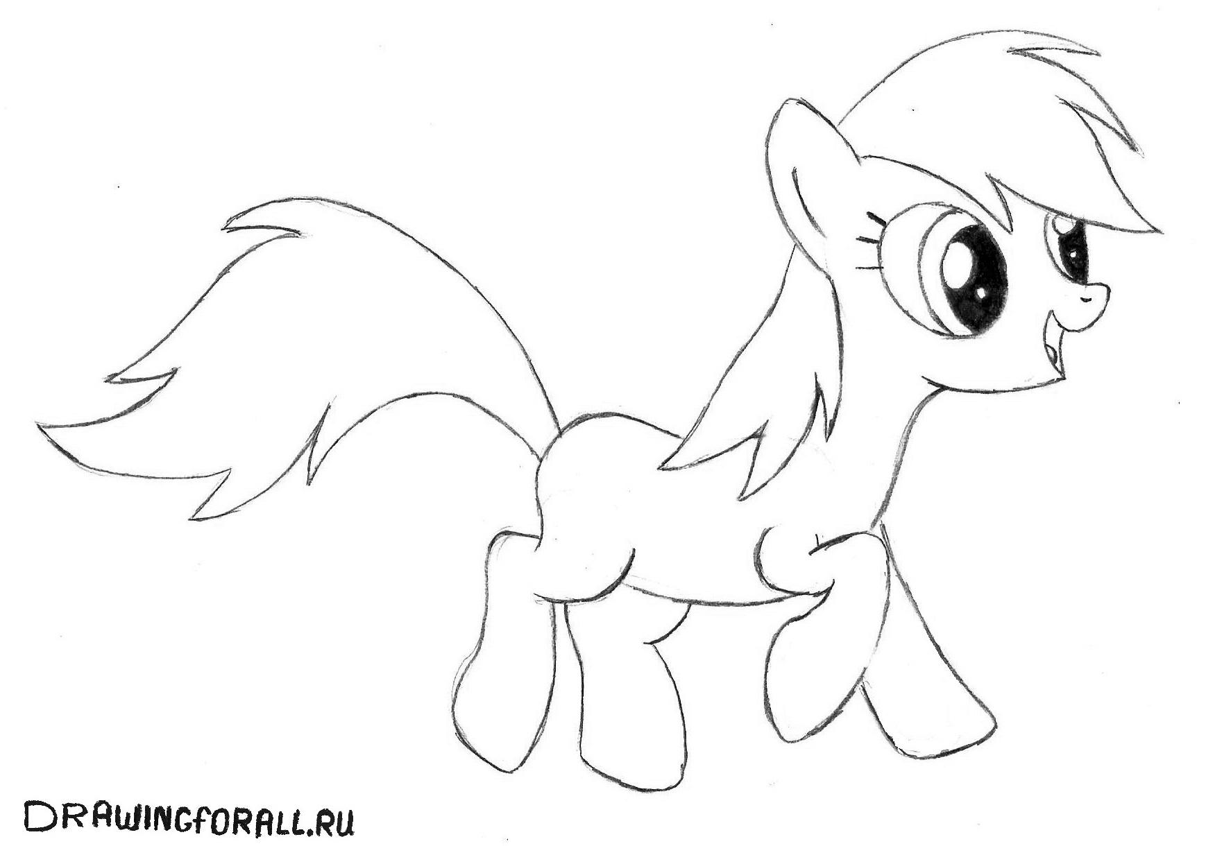 Как нарисовать хвост пони