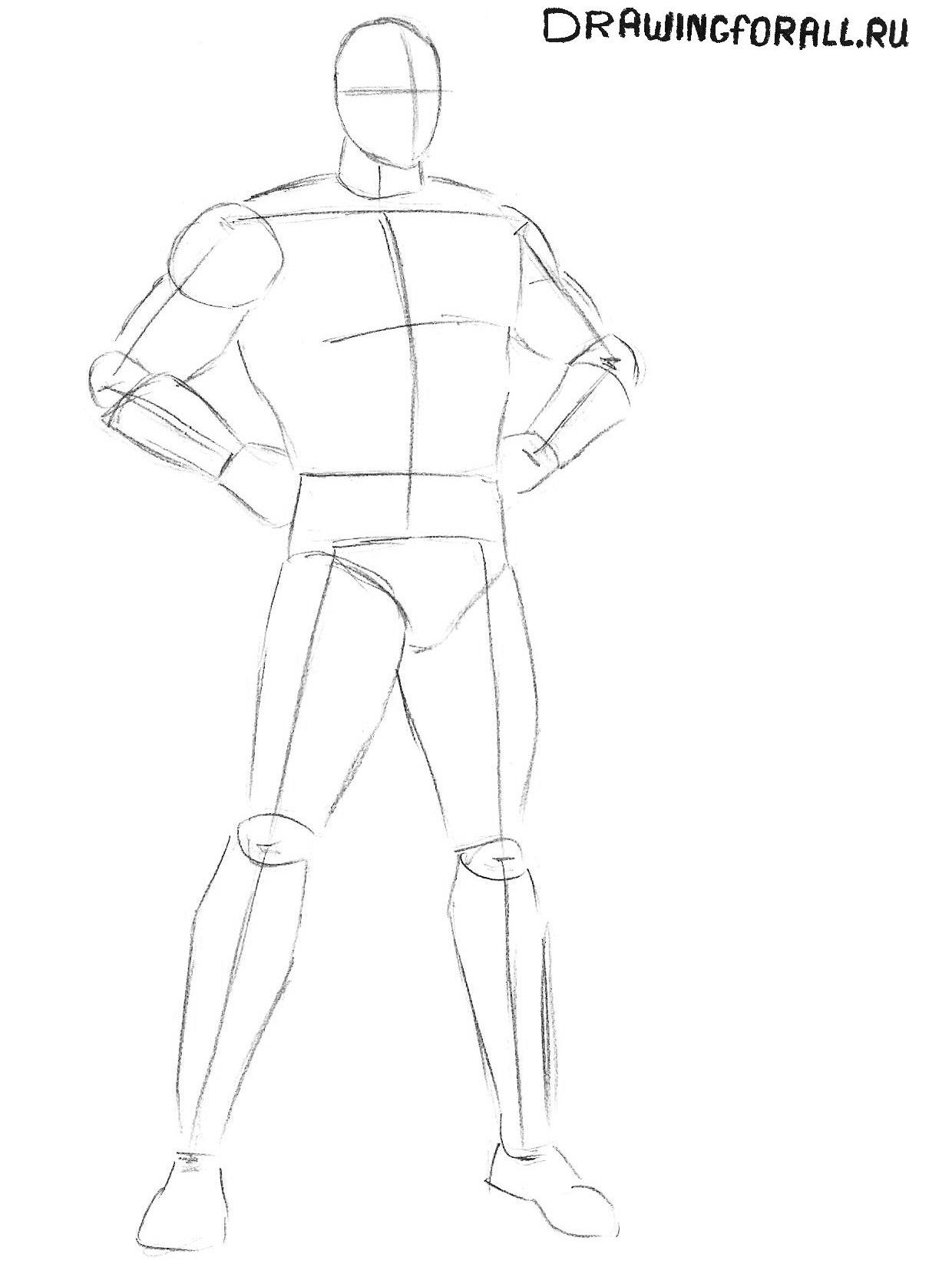 Как нарисовать Супермена карандашом