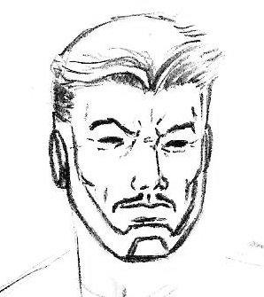 Нарисованный Тони Старк
