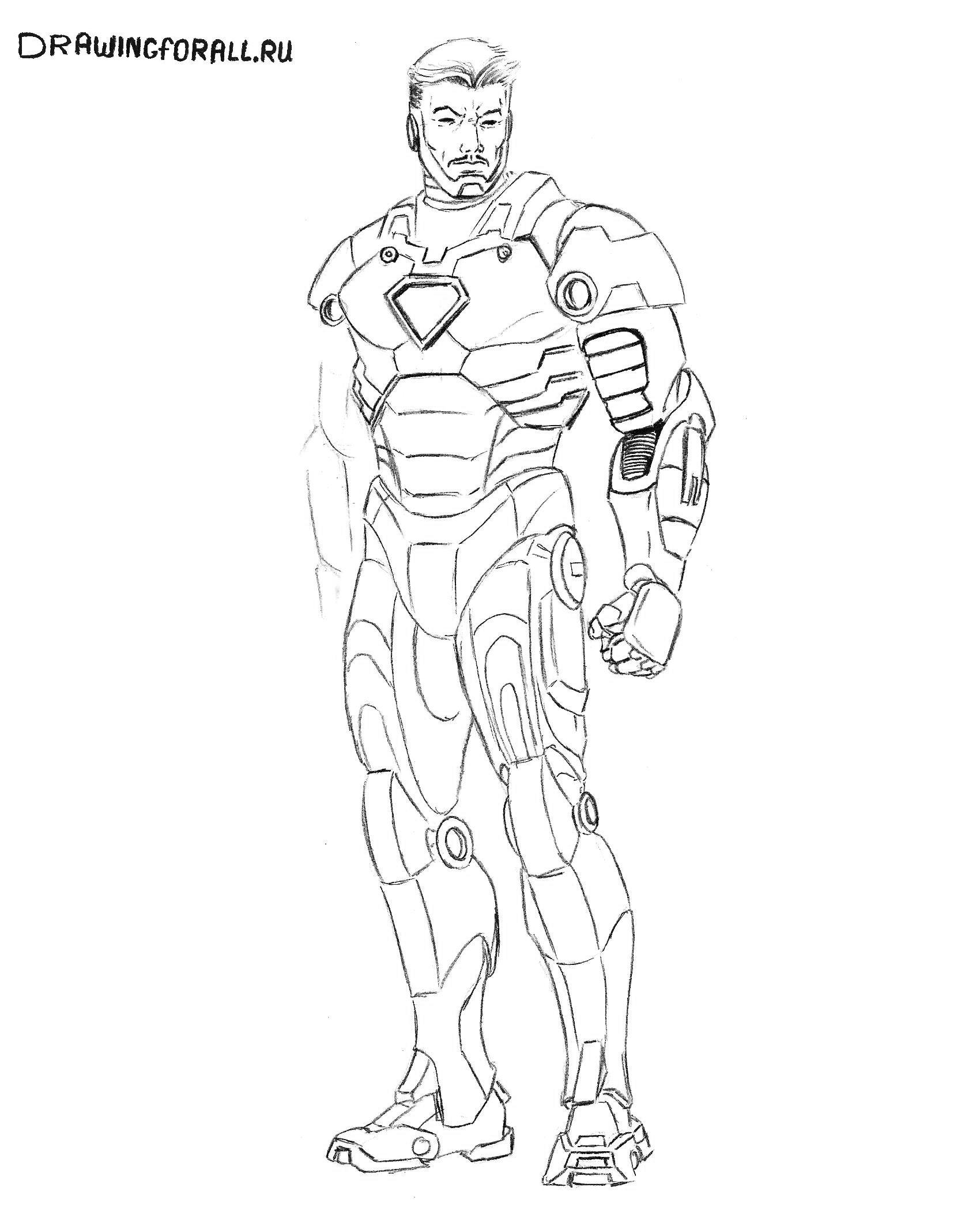как легко нарисовать железного человека