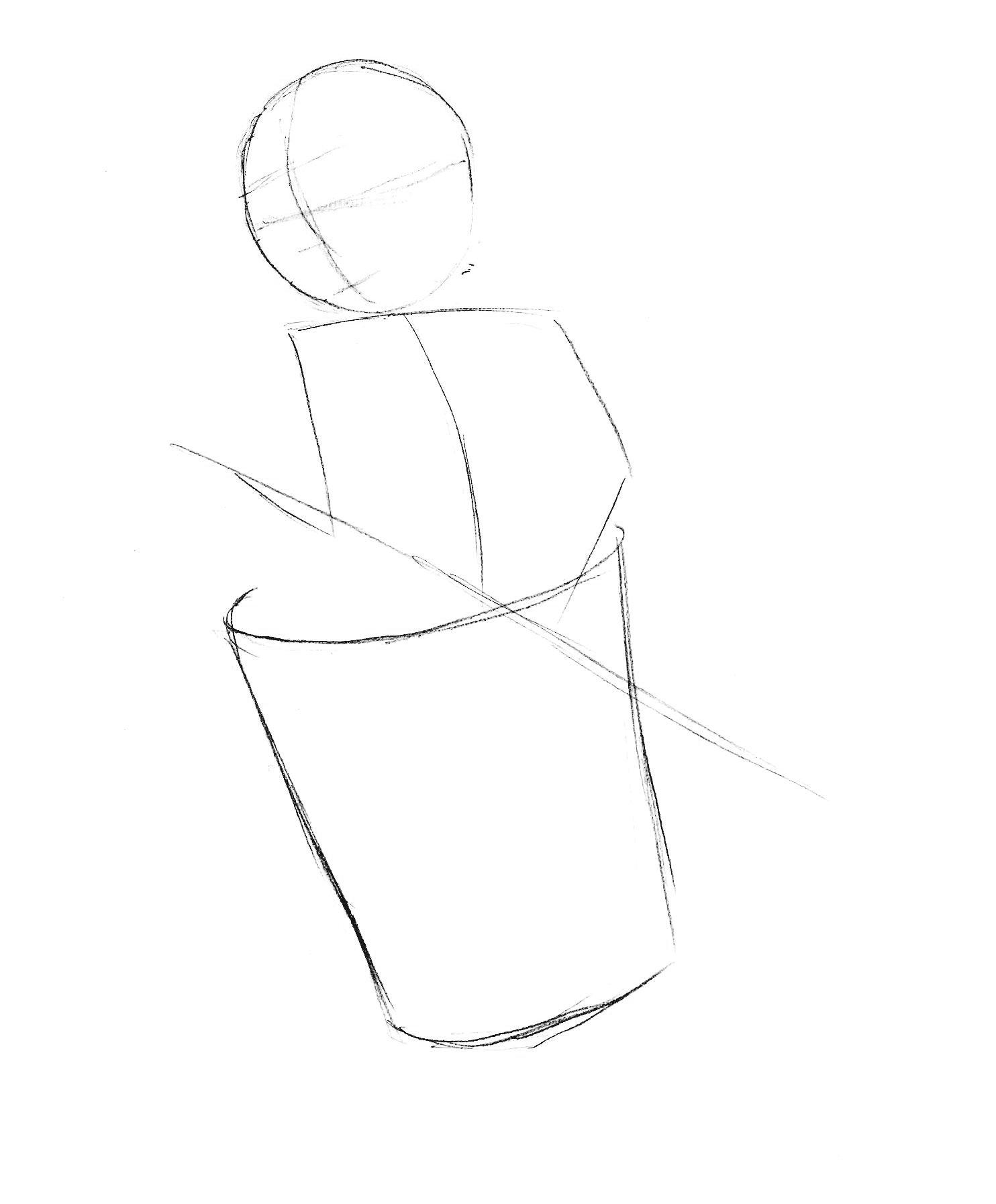 как нарисовать Бабу-Ягу поэтапно
