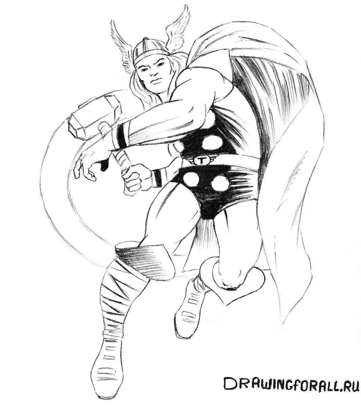 как нарисовать Тора