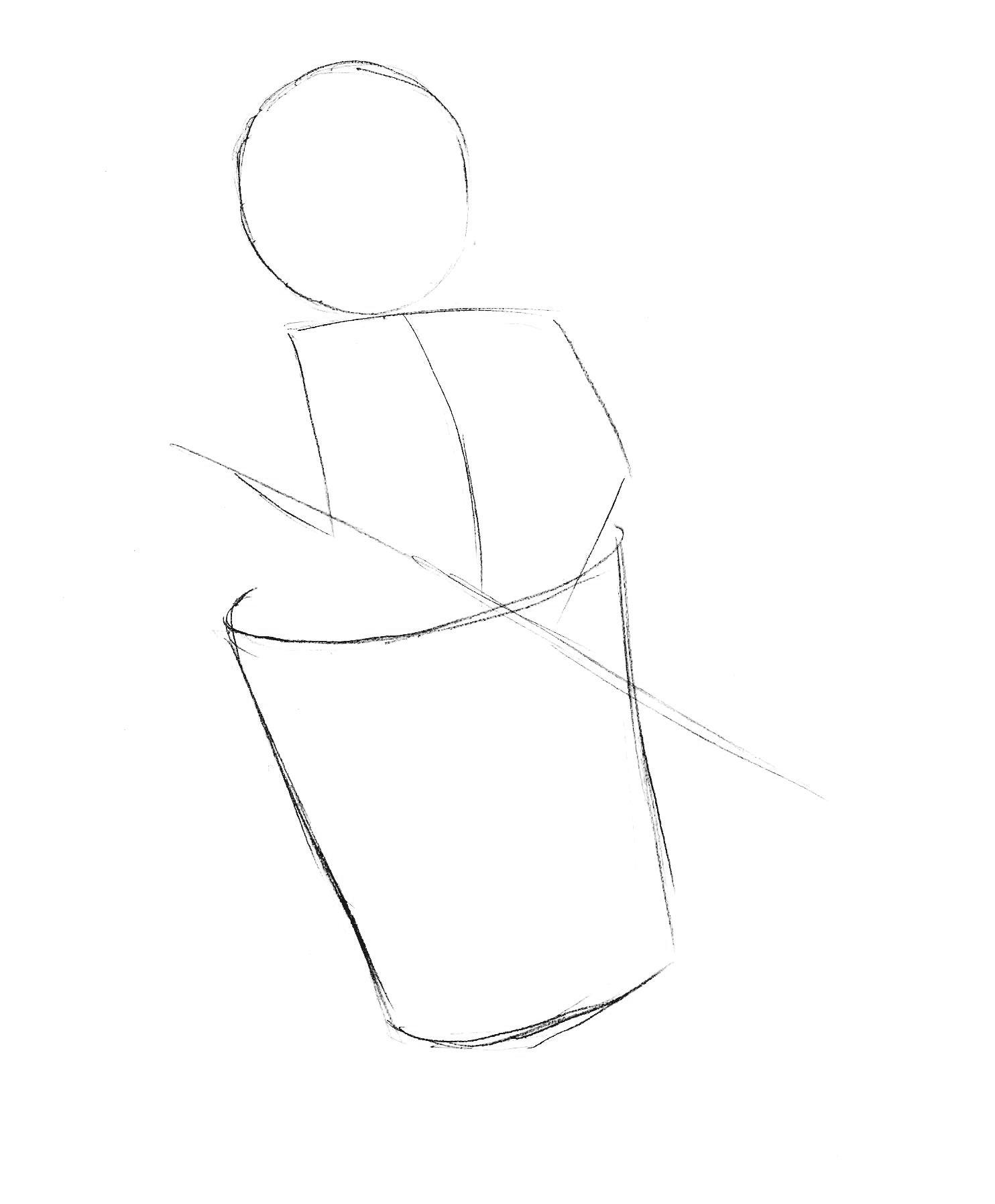 как нарисовать бабу-ягу карандашом