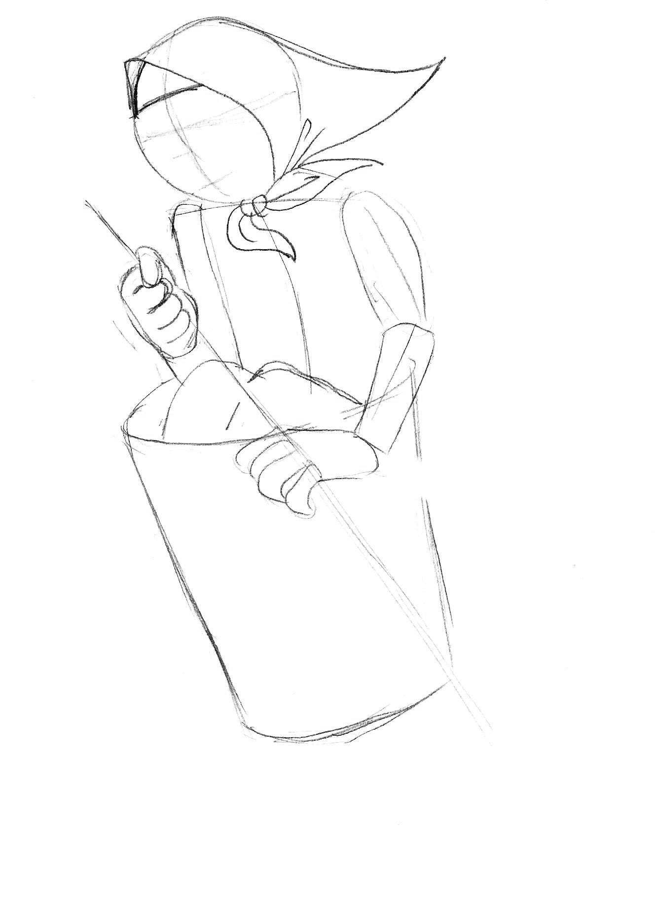 как нарисовать бабу ягу карандашом
