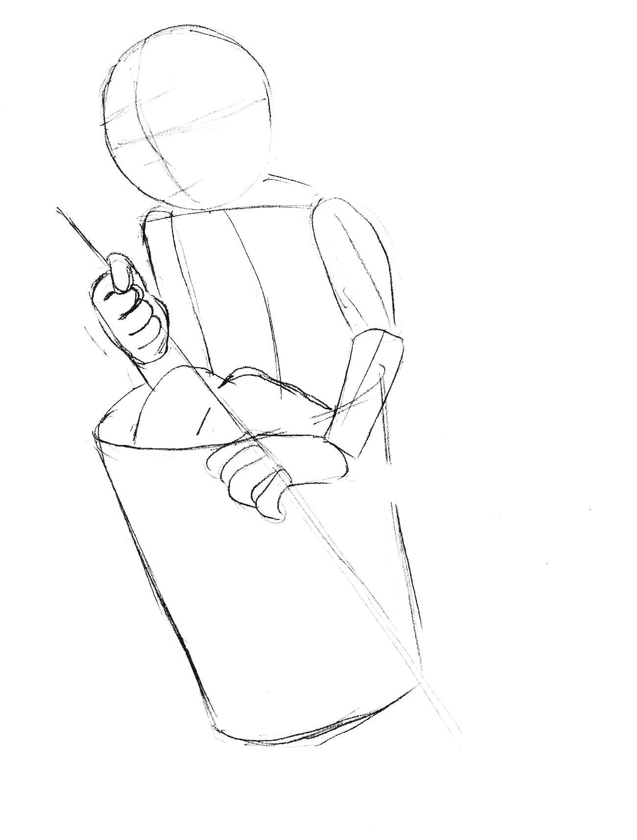 как нарисовать бабу ягу