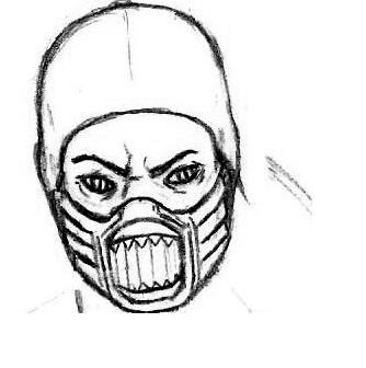 как нарисовать героев мортал комбат