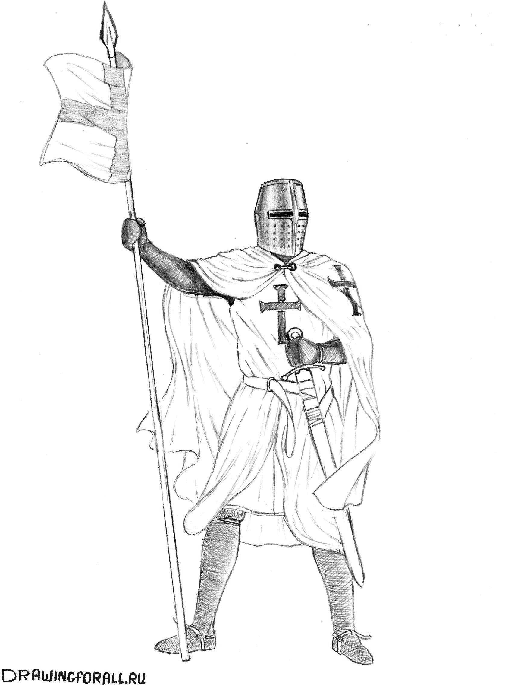 как нарисовать доспехи рыцаря