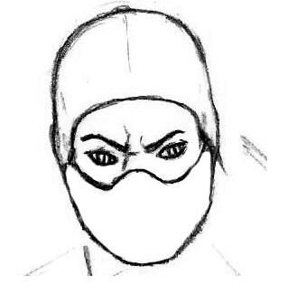 как нарисовать лицо рептилии
