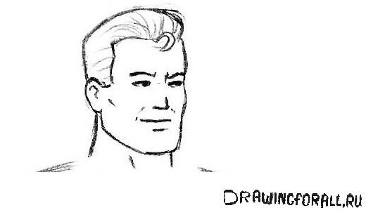 как нарисовать лицо супермена