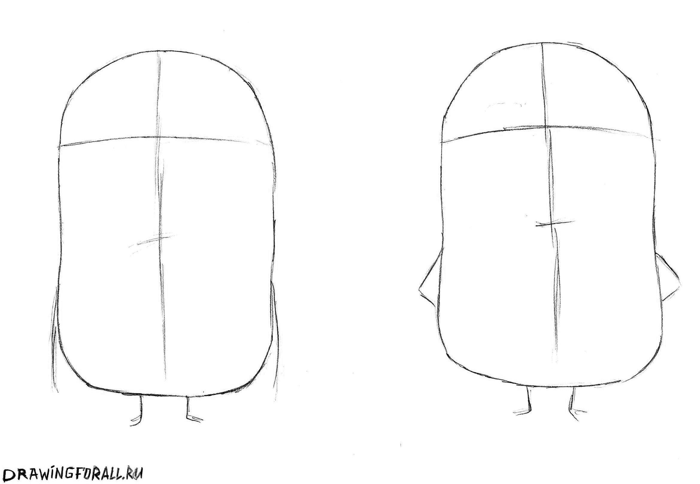 как нарисовать миньонов карандашом