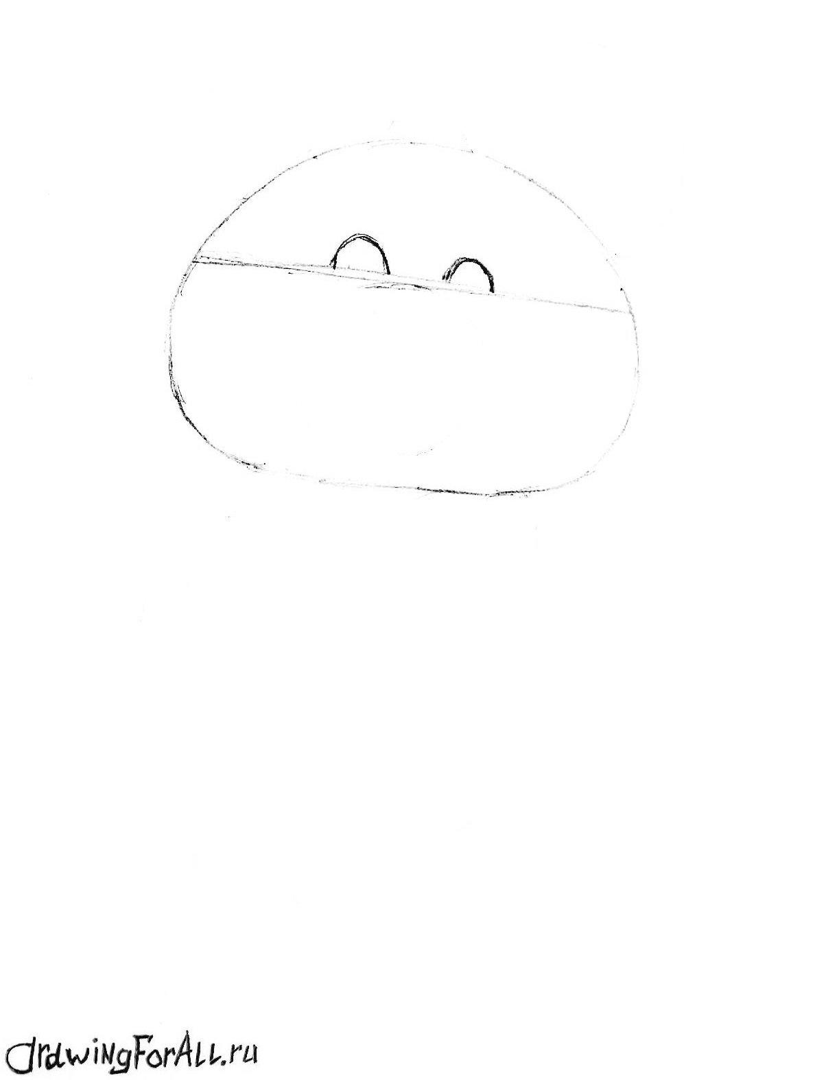 как нарисовать олимпийского мишку поэтапно