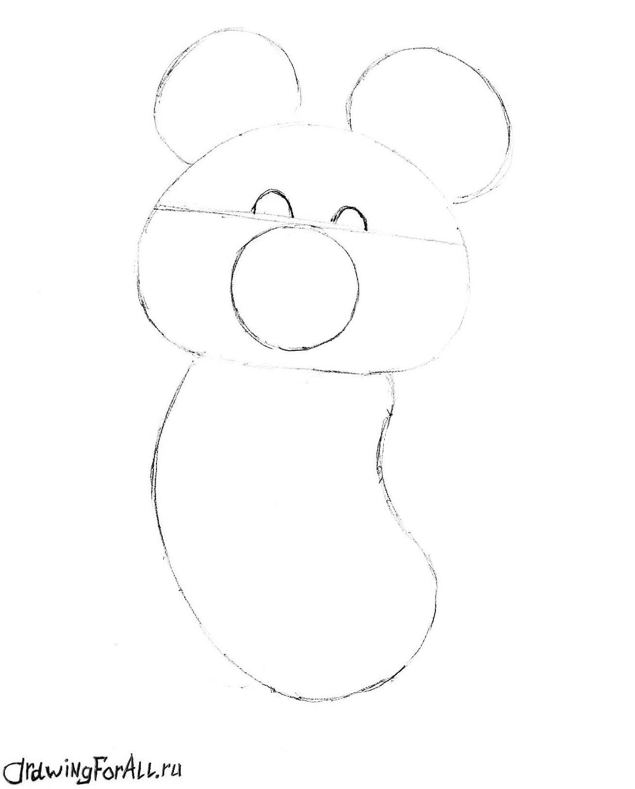как нарисовать олимпийского мишку фото
